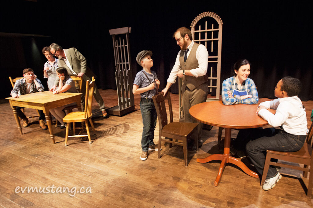 image of families and kids from new stages production of our town