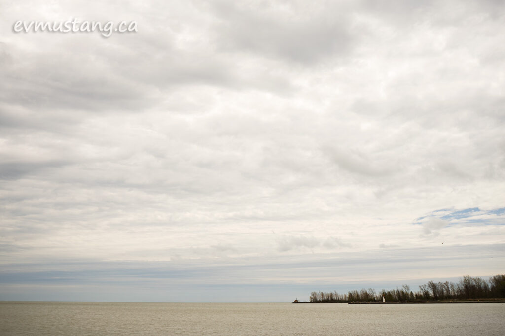 image of port burwell beach looking out over the water toward the lighthouse