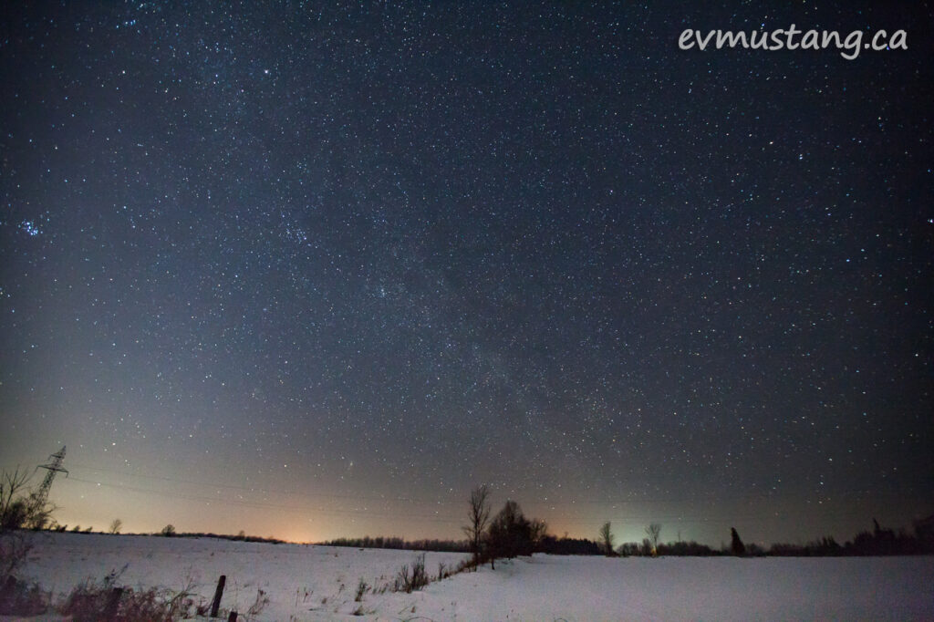 image of night sky north of duoro